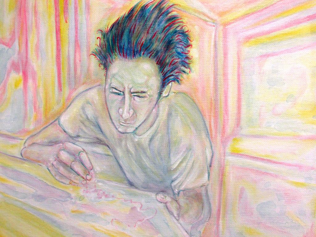 self portrait (mad scientist) by davidgrice