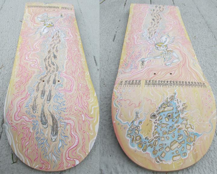 skateboard deck art by davidgrice