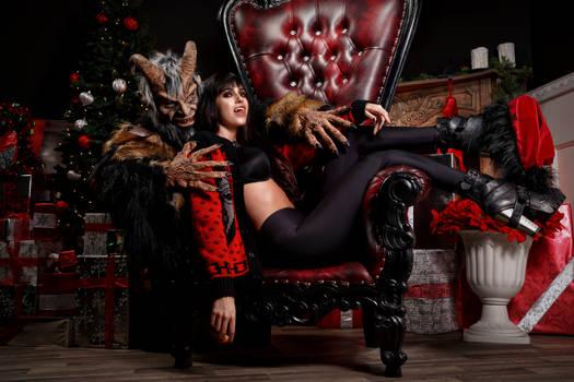 Miss Clausferatu and Krampus