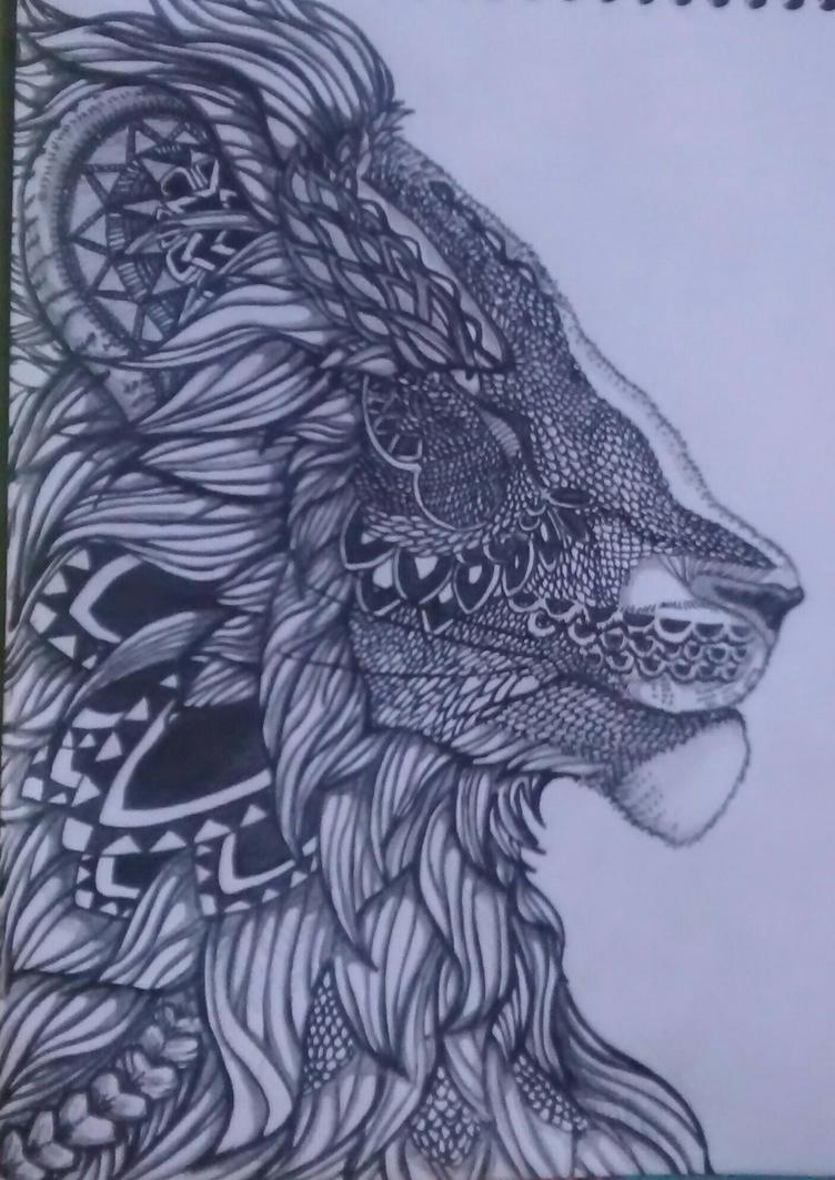 lion by elicita