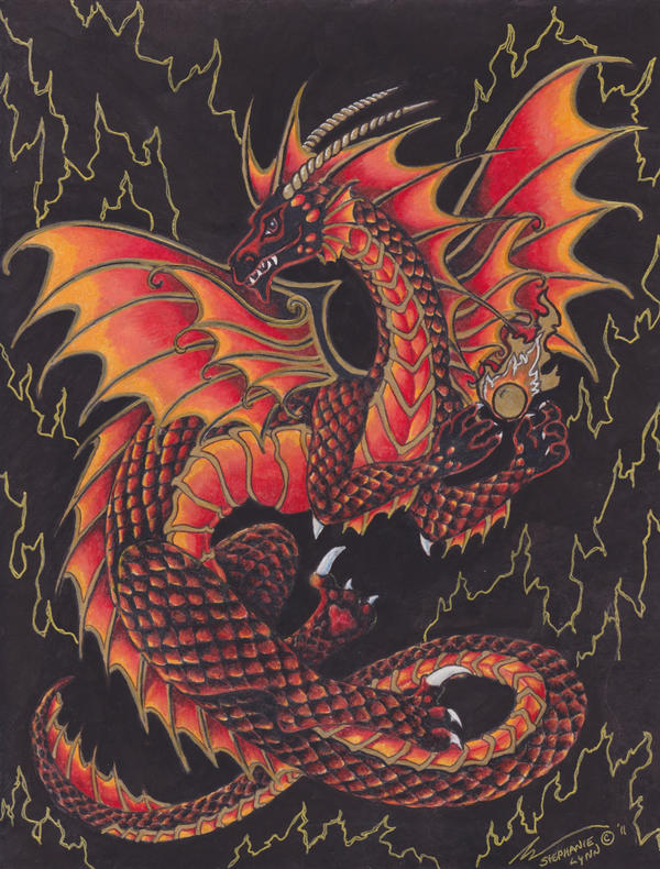 Cool Fire Dragon Pictures Fire dragon by stephanielynn