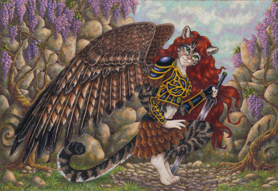 Winged Cat FINAL by stephanielynn