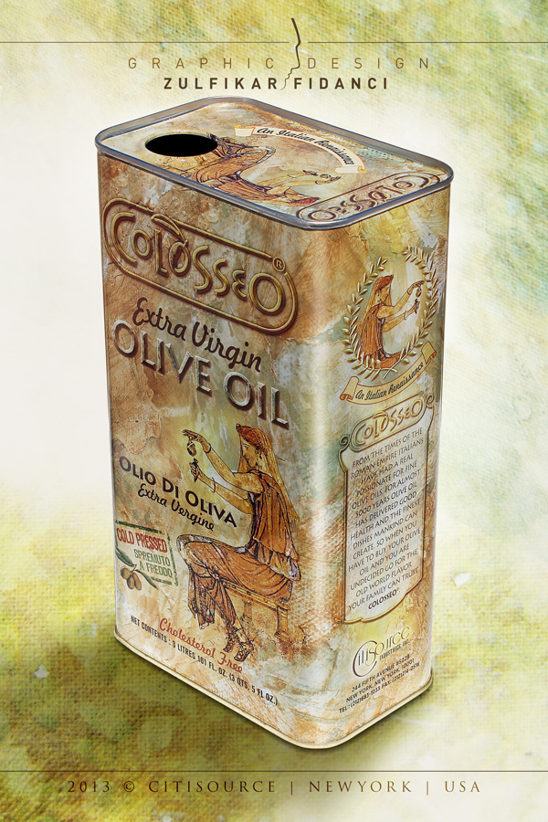 Colosseo Olive Oil Packaging Design by byZED