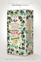 Packaging Design of Necip Efendi Olive Oil by byZED