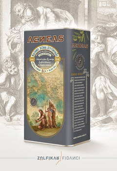 Aeneas Olive Oil Packaging Design