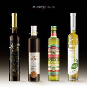 Designs of olive oil label