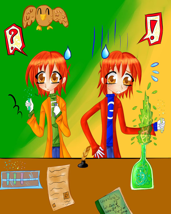 Anime Fred and George Weasley by SakuraChan501Fred And George Weasley Anime