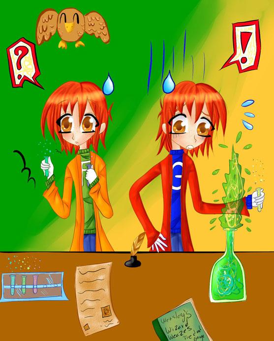 Fred and george weasley anime