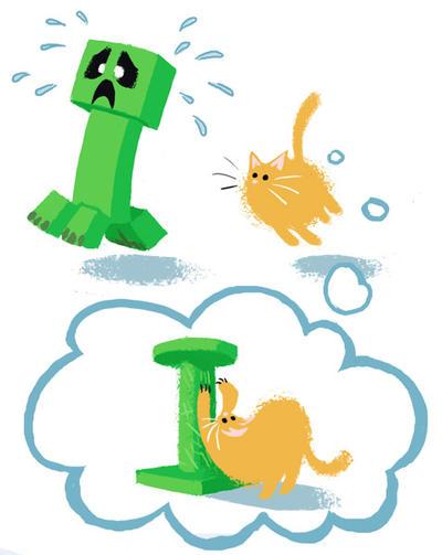Minecraft Cats by Nerfuffle