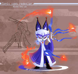 Sonic Redesign- Blaze by Nerfuffle