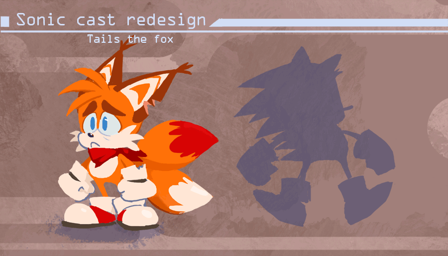 Sonic Redesign Tails By Nerfuffle On Deviantart