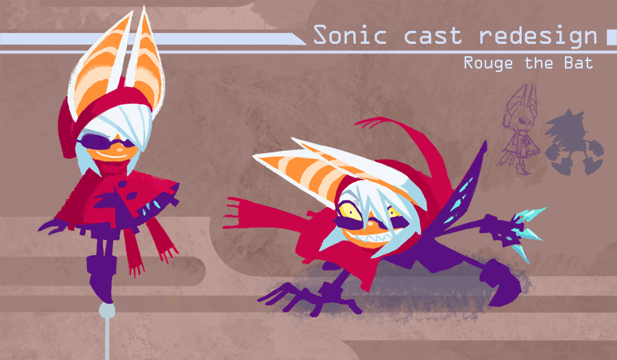 Sonic Redesign- Rouge