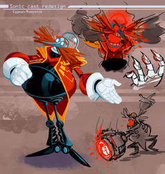 Eggman/Robotnik redesign by Nerfuffle