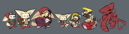 Fennec me. Sonic annual 2019 Rouge story concepts.