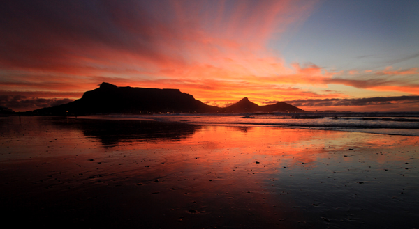 Sunset at table mountain by rami haddad on deviantart - Table mountain wallpaper ...