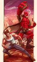 Wolverine and Hellboy 2 by robotnicc