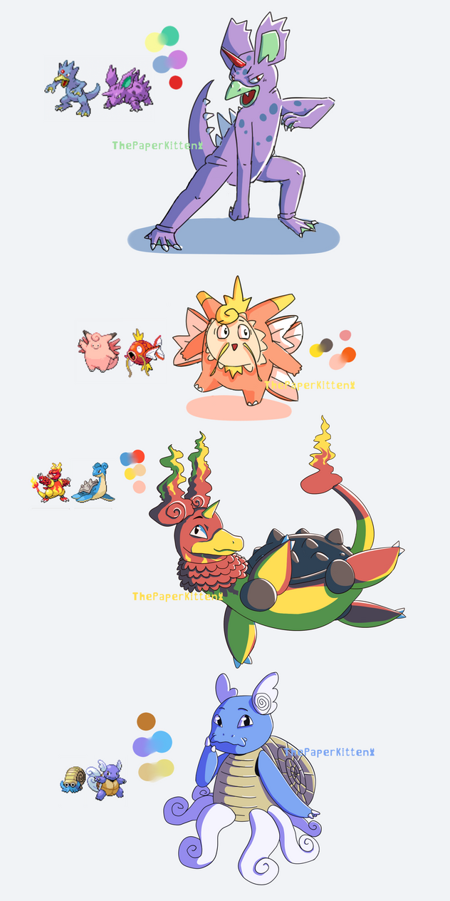 Pokemon Fusions by ThePaperKitten