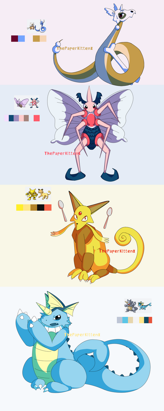 Pokemon Fusions 2 by ThePaperKitten