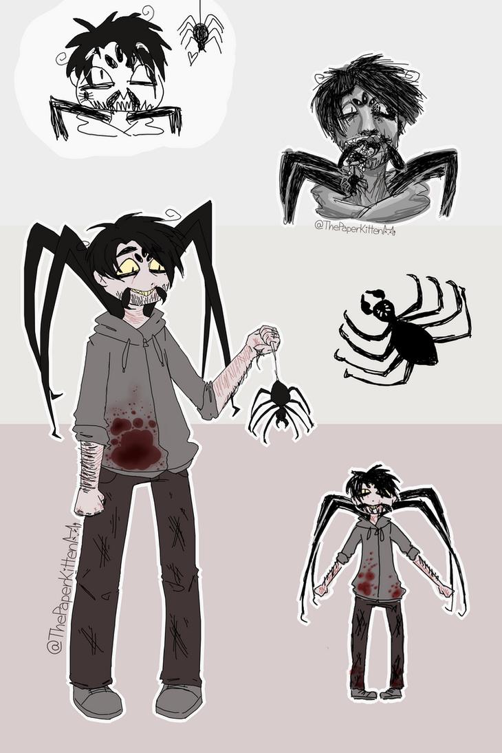 Mister Cweepy Spider Doodles by ThePaperKitten