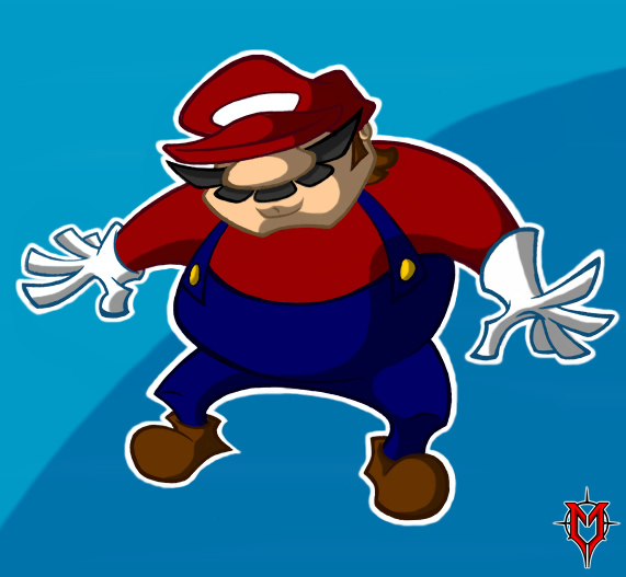 Nondescript Red Plumber Man by Masebreaker