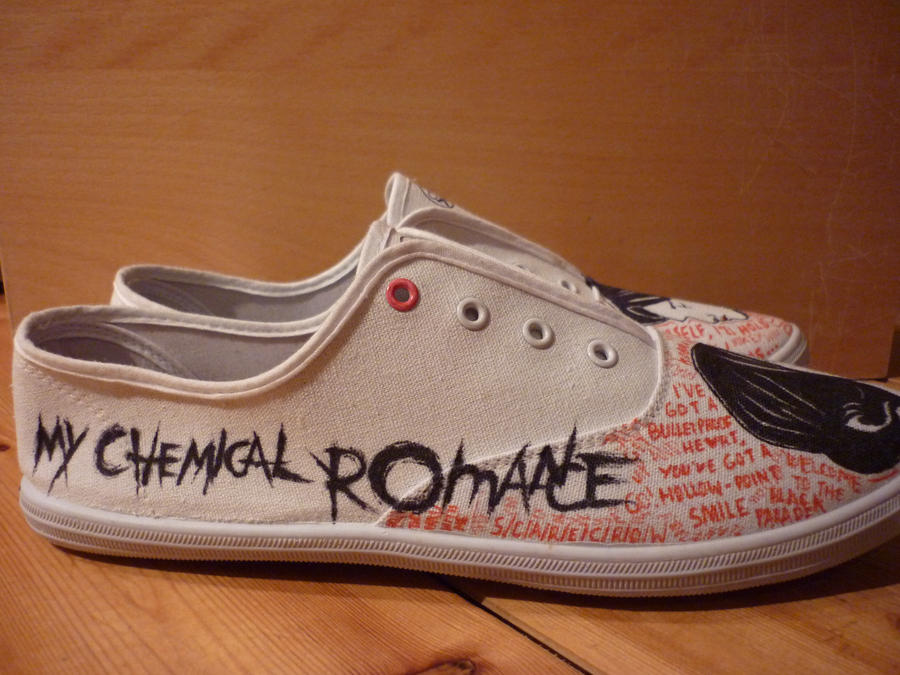 My Chemical Romance Shoes MCR Shoes by RadioactivePencil