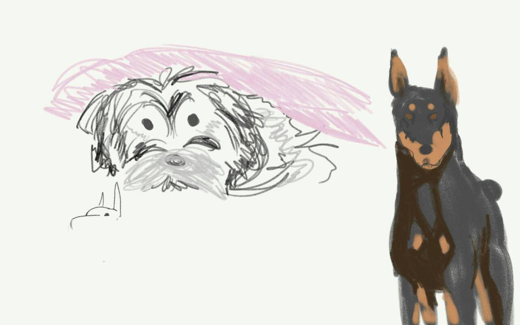 Dogs! Just some sketches Of pooches by TheVelma16