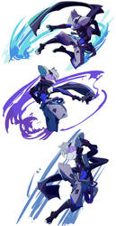 Character Sketches of Murasame 2 by new-ja