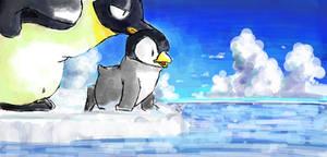 rakugaki 'Le Papa Pingouin'