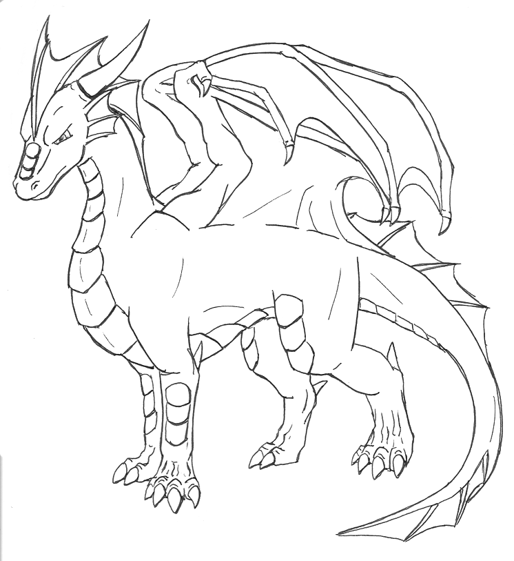 Dragon Lineart : Random dragon lineart by frostpebble on deviantart