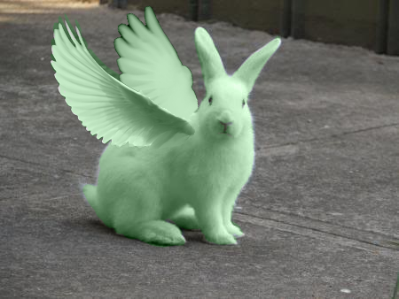 FLYING MINT BUNNY by Frostpebble