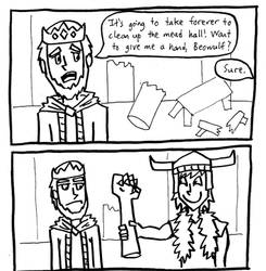stupid Beowulf comic by Frostpebble