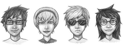 Homestuck Kids by Frostpebble