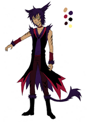 demon catboy needs a name by Frostpebble