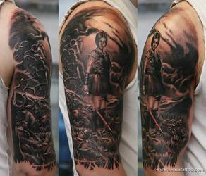 Azumi tattoo by Remistattoo
