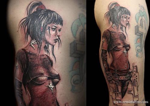 Woman Warrior With Guns