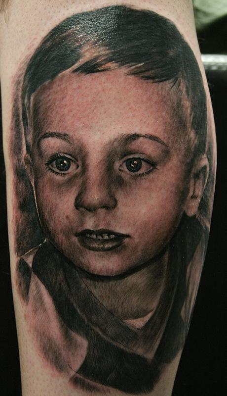 Portrait tattoo by Remistattoo