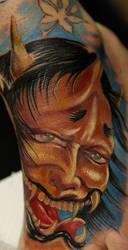 Japanese demon tattoo by Remistattoo