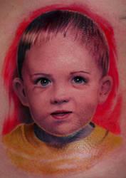 Boy portrait tattoo