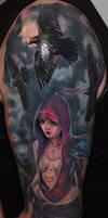 fantasy girl tattoo 2