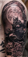 Batman_gargoyle_black_and_grey by Remistattoo