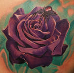 rose and spider tattoo
