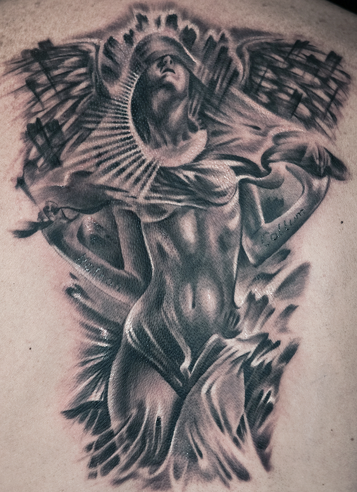 fantasy angel tattoos by Remistattoo