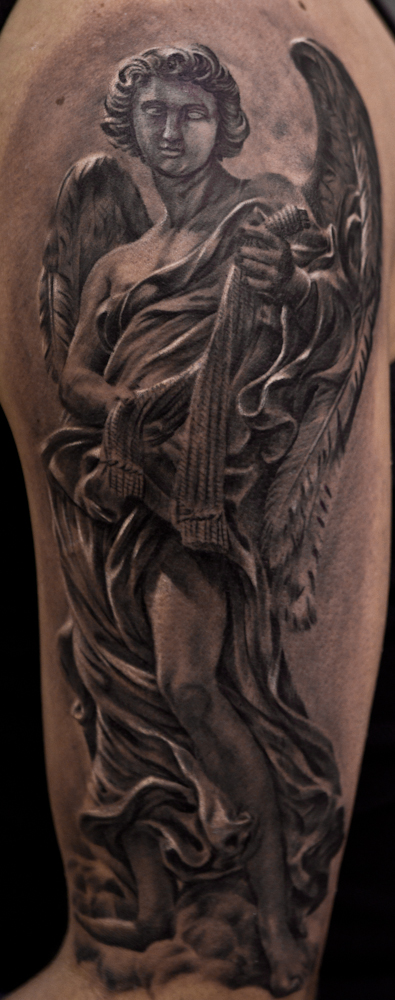 angel statue tattoo by Remistattoo on DeviantArt