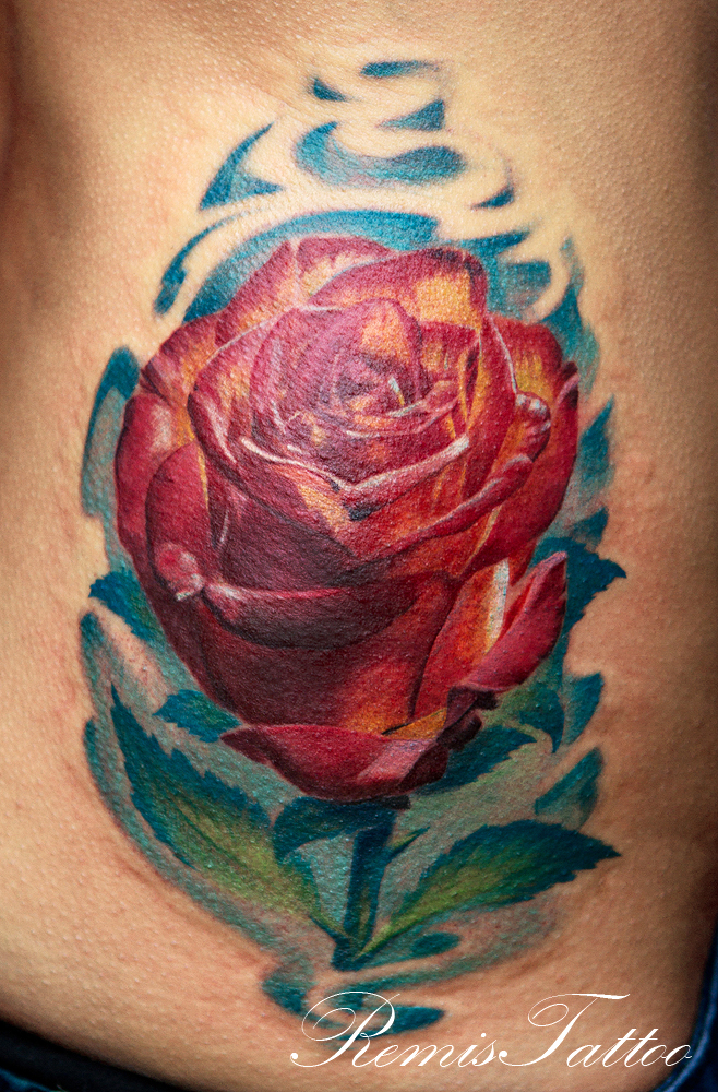 realistic rose tattoo by Remistattoo on DeviantArt