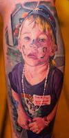 realistic portrait tattoo of kid