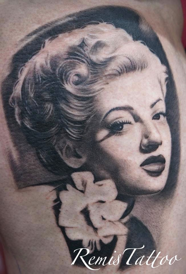 Black and grey portrait tattoo 3 by remistattoo on deviantart for Black and grey tattoo artists