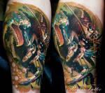 realistic lobster tattoo