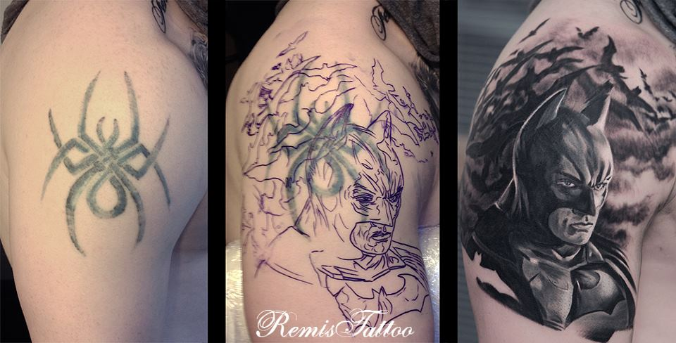 Batman Tattoo Cover Up by Remistattoo on DeviantArt