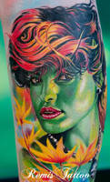 Eva Mendes Tattoo Portrait