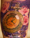 Relistic Tattoo Old Pocket Watch